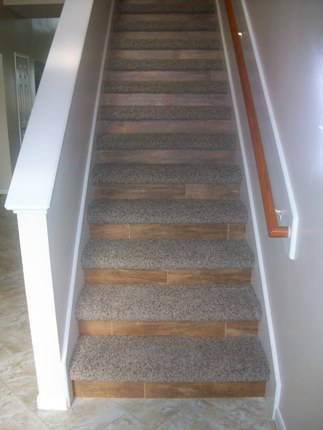 Tile And Carpet On Stairs