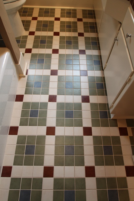Craftsman Home Bathroom Floor
