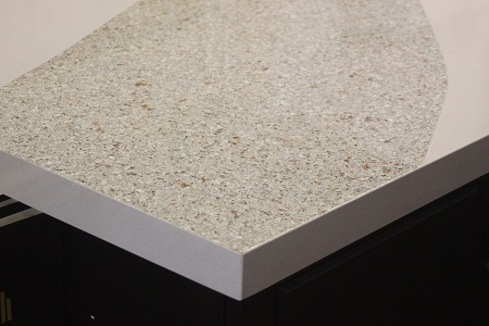 2 colors of Silestone, square edge detail