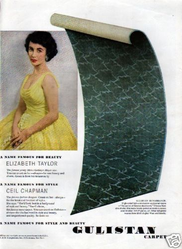 Beauty and Style...Gulistan Carpet  Ad 1959