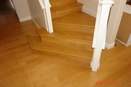 wood floor & stairs