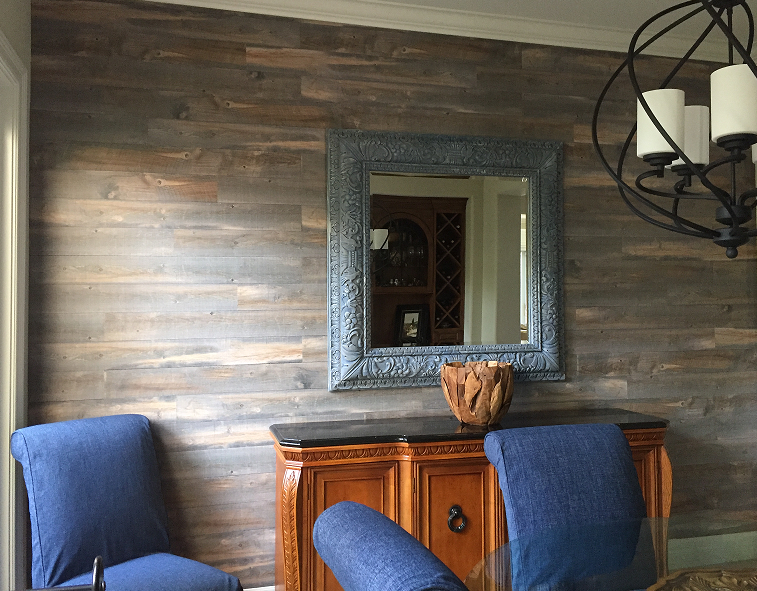 Wood on Walls in Tustin Ranch